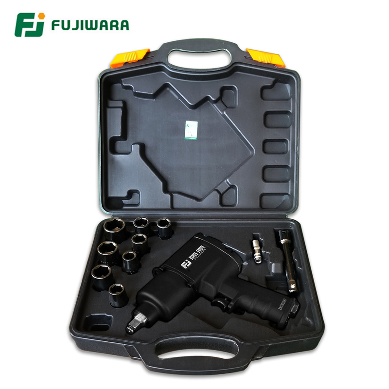 "FUJIWARA Air Pneumatic Wrench 1/2"" 1280N.M Impact Spanner Large Torque Tire Removal Tool Nut Sleeves Pneumatic Power Tools"