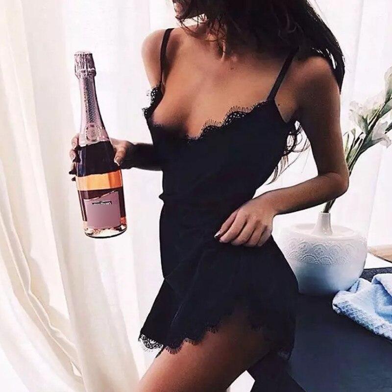 2pcs Women Sexy Satin Lace Sleepwear Babydoll Lingerie Nightdress Homewear Underwear Night Dress Mujer
