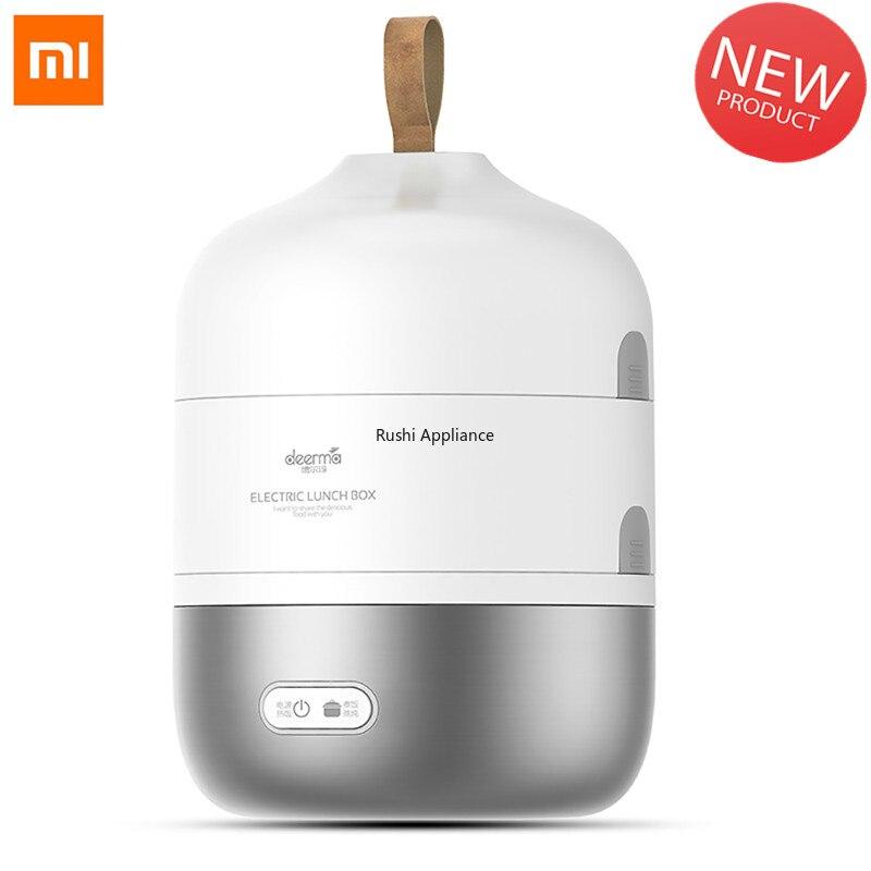 Xiaomi DEERMA 2L электрическая мини-плита портативная рисоварка из нержавеющей стали, тепловарка для еды, Электрический Ланчбокс
