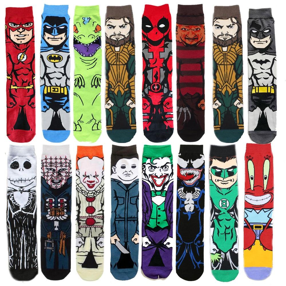 New Men Cartoon Clown Sock Street Skateboard Socks Hip Hop Creative Soft Comfortable Funny Novelty Horror Movie Character Socks