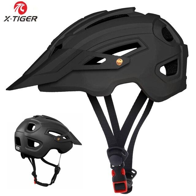X-TIGER capacete de ciclismo trail xc capacete de bicicleta in-mold mtb capacete da bicicleta de estrada de montanha capacetes de segurança das mulheres dos homens 1