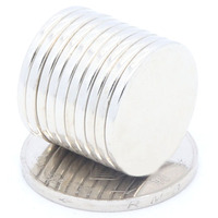 BMBY 100 Pcs 20X2 Mm Super Powerful Magnetic Sheets Disc 20Mm X 2Mm Strong Round Magnets N35 NdFeB Lot Neodymium Magnets Sheet
