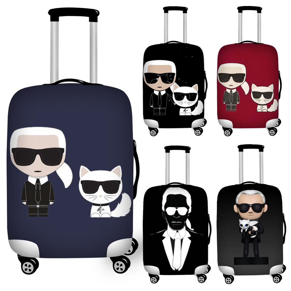 Waterproof 18''-32'' Karl Lagerfelds Travel Luggage Cover For Suitcase Elastic Protective Dust Suitcase Cover Baggage Covers