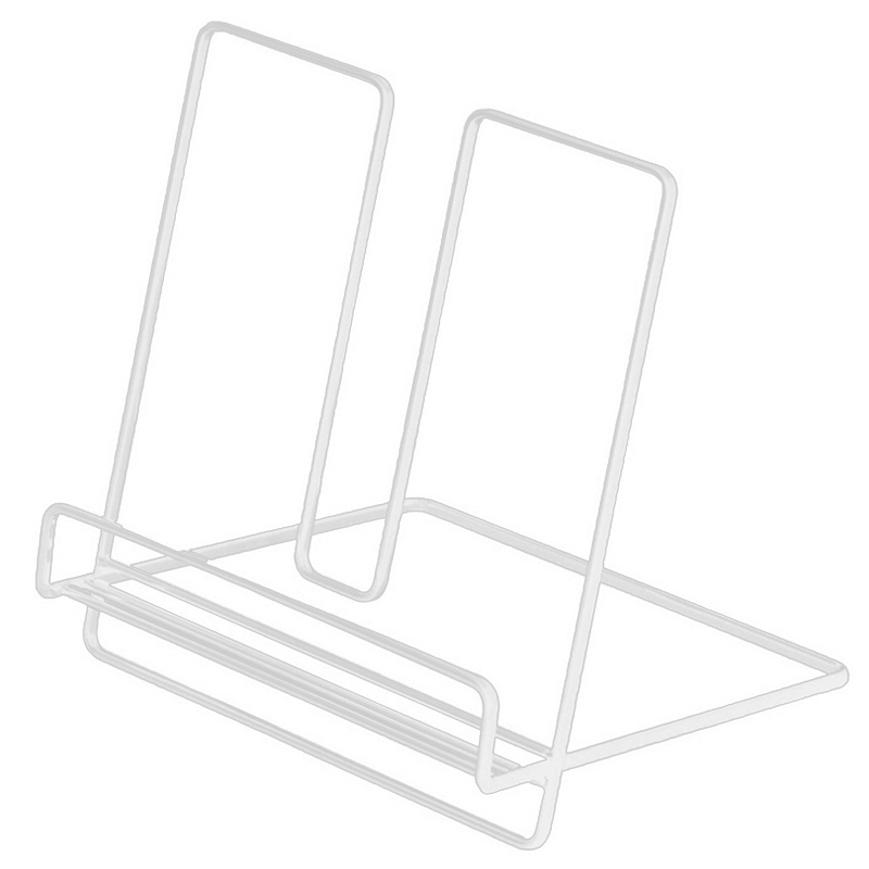 Simple Wrought Iron Desktop Storage Rack Shelf File Magazine Storage Box Office Rack Jewelry White