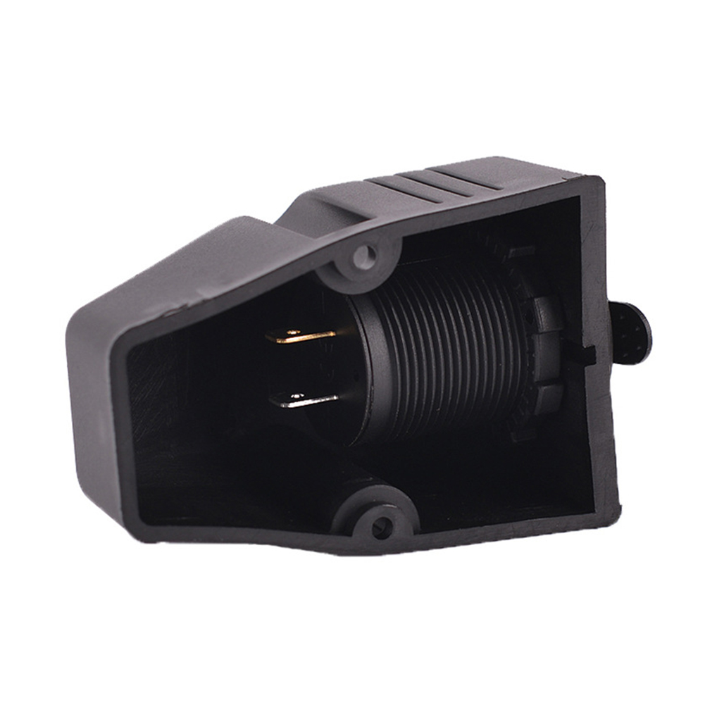 Plug 12V Socket Accessory Black Charger Dual USB Surface Mount Adapter Universal