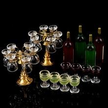 13 шт./компл. вина бутылки для напитков, бокалы, пивные кружки, бутылки вина подстаканник для кукол в миниатюре Паб Магазин Новые Фирменная Новинка