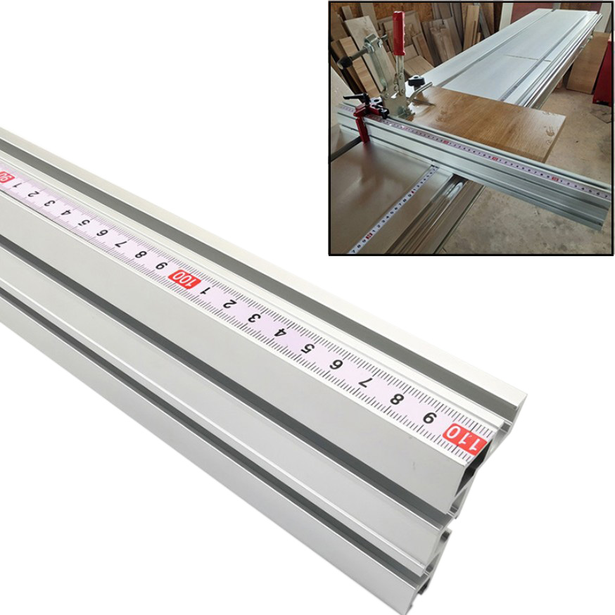 Aluminium 75mm Height Miter Track T-track Stop Sliding Brackets Miter Gauge Fence Connector For Woodworking Workbench DIY Tool