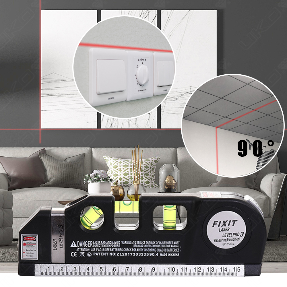 8 feet multipurpose laser level horizontal for interior decoration projects
