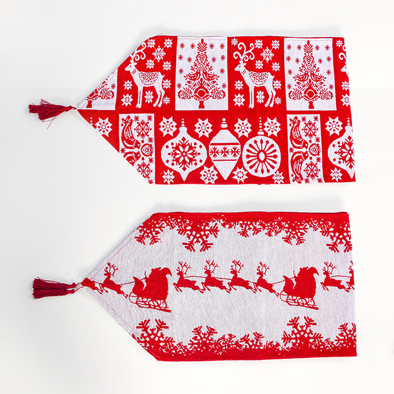 Christmas Table Flag Xmas Table Runner Tablecloth Dining Place Mat Home Decor