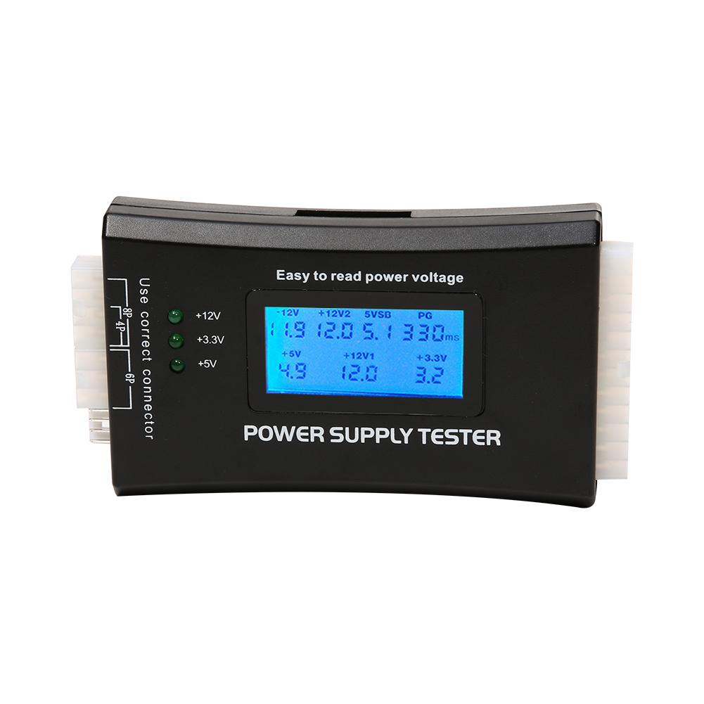 Digital Lcd Display Pc Computer 20/24 Pin Power Supply Tester Check Quick Bank Supply Power Measuring Diagnostic Tester Tools Good Heat Preservation