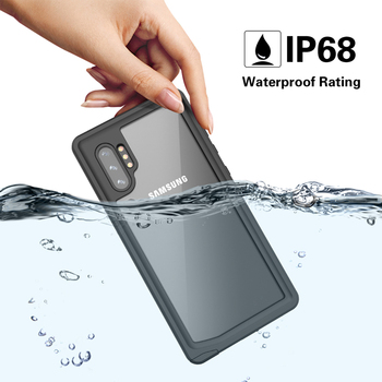 Waterproof Case for Samsung Galaxy S20 Ultra Note 10 9 Plus 360 Full-Body Rugged Clear Back Case Cover Silicone + PC