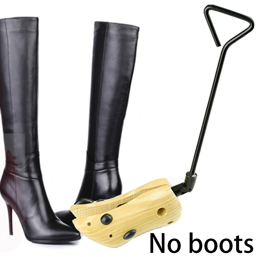 Unisex Universal Boots Expander Professional Adjustable Length Anti Crease Keeper Wooden Shoe Stretcher High Heels Practical