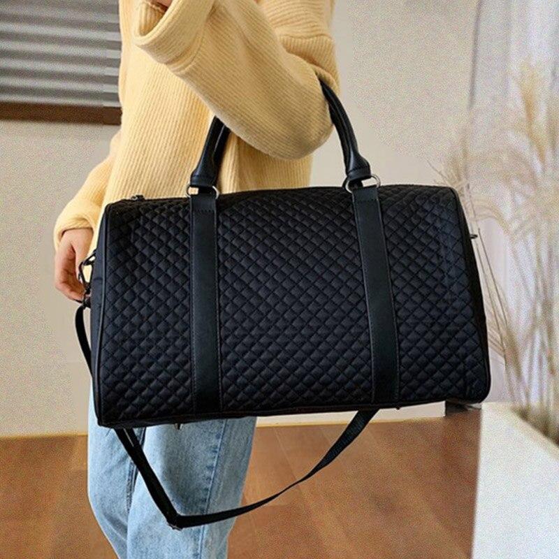 Women Gym Bag Fitness Diamond Lattice Travel Shoulder Bag Waterproof Handbag Luggage Trip Tote Sac De Sport Gymtas 2020 XA265D