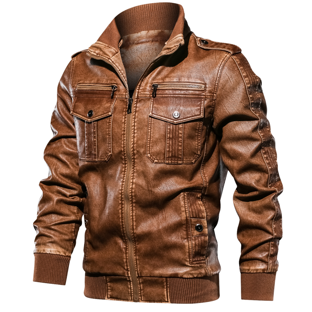 new Men Military Jacket Casual Army Fitness Leather Jackets 1