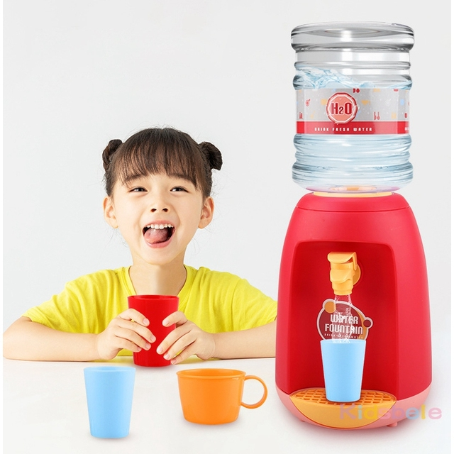 Children Kitchen Pretend Toys Mini Water Dispenser Toy Simulation Appliance Toy Role Playing Kitchen Toys Drinking Toys For Kid