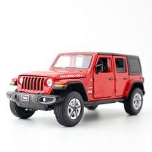 Jackiлюбые/Масштаб 1:32/литая металлическая Игрушечная модель/Jeep Wrangler Sahara/автомобиль со звуком светильник/открывающиеся двери/образовательная...