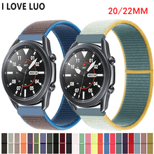 20/22mm Huawei watch GT 2 Strap GT2 3 Nylon bracelet active 2 Gear S3 Frontier Galaxy Watch 46mm/42mm for Samsung watch 3 band