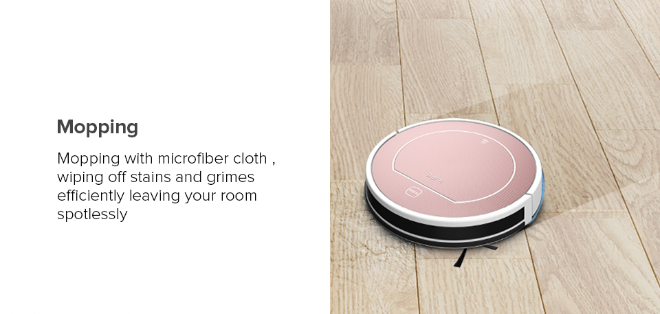 Hcafa25722fdf4511bd4807bda862b2c4z ILIFE V7s Plus Robot Vacuum Cleaner Sweep and Wet Mopping Disinfection For Hard Floors&Carpet Run 120mins Automatically Charge