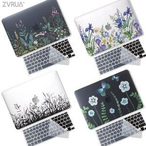 Nova impressão 3d caso do portátil para macbook ar pro retina 11 12 13 15 polegada com barra de toque  caso + teclado transparente capa