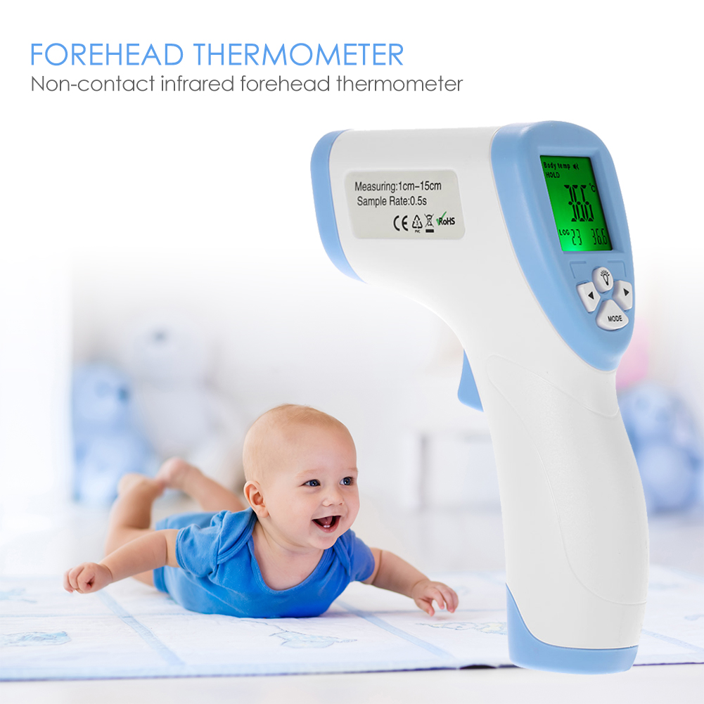 Baby Thermometer LCD Body Measurement Forehead Ear Non Contact Infrared Forehead Thermometer Temperature Meter Pyrometer