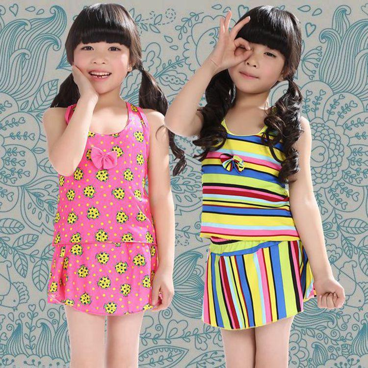 South Korea Skirt Split Type Children Cute Princess Tour Bathing Suit 9-11-Year-Old Bathing Suit 19 New Style Swimwear KID'S Swi
