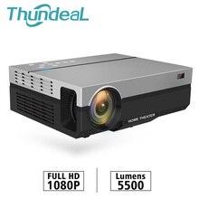 Thundeal t26l t26 projetor hd completo não t26k nativo 1080p 5500 lumens vídeo led cinema em casa teatro k19 k20 m19 m20 tv 3d beamer