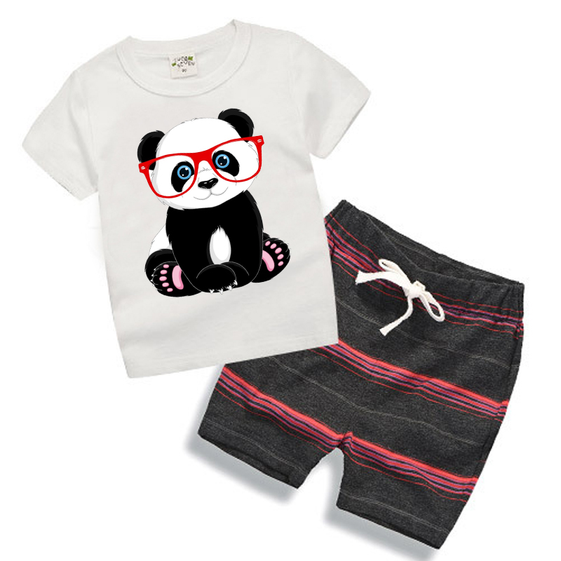 5 Styles Baby Sets 2pcs Lovely Cartoon Short Sleeve T-shirt+Shorts Pants 2020 New Summer Suits Toddler Boys Clothes Outfit