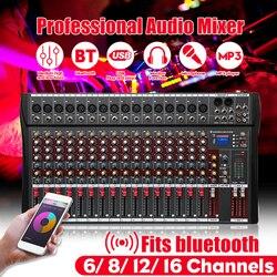 12 canais profissional estúdio de áudio mixer bluetooth usb digital dj som mistura console 48v phantom poderes monitor amplificador