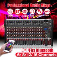 12 kanäle Professional Studio Audio Mixer bluetooth USB Digital DJ Sound Mischpult 48v Phantom Powers Monitor Verstärker