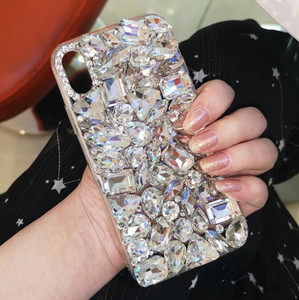 Image 5 - Luxury Crystal Gem Rhinestone Cases For iphone 11 12 Pro X XS MAX XR Soft Edge Clear Phone Cover For iphone 5S 6S 7 8 PLUS Capa