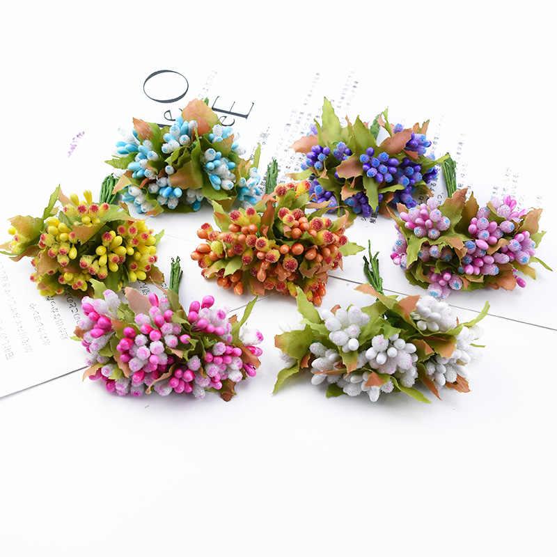 10 Buah Scrapbook Bunga Benang Sari Hias Natal Karangan Bunga Bunga Vas Bunga untuk Dekorasi Rumah Pernikahan Bridal Aksesoris Clearance