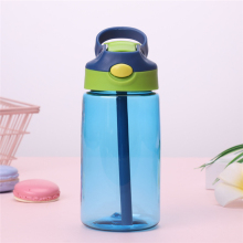 EMS 50pcs Sports Water Bottle kids water bottle Straw Bottles Bpa Free No Phthalate tritan baby Lemon