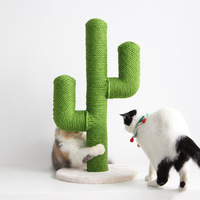 Sisal Cactus Cat Climbing Frame Vertical Cat Claw Column Plate Pet Toys Cat Tree Tower Pet Products Furniture Shelf