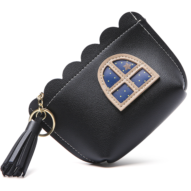 2019 Fashion Sweet Window Coin Purse Change Wallet Money Bag Cards Pouch Keychain Tassel Pocket For Carteira Femme Female Women