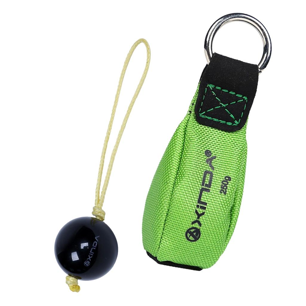 Climbing 250g 8.8 oz Throw Weight Bag w// Round Ring+27mm Retriever Ball Rope