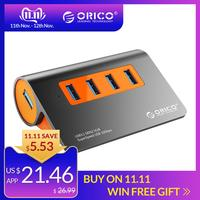 ORICO USB3.1 Gen2 HUB Aluminum USB HUB PC Splitter 10Gbps Super Speed With 12V Power Adapter for Samsung Galaxy S9/S8/Note