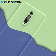 KEYSION Liquid Silicone Case for Xiaomi Mi 9T Pro 9 SE A2 A3 Shockproof Phone back Cover For Redmi Note 8 7 7A K20