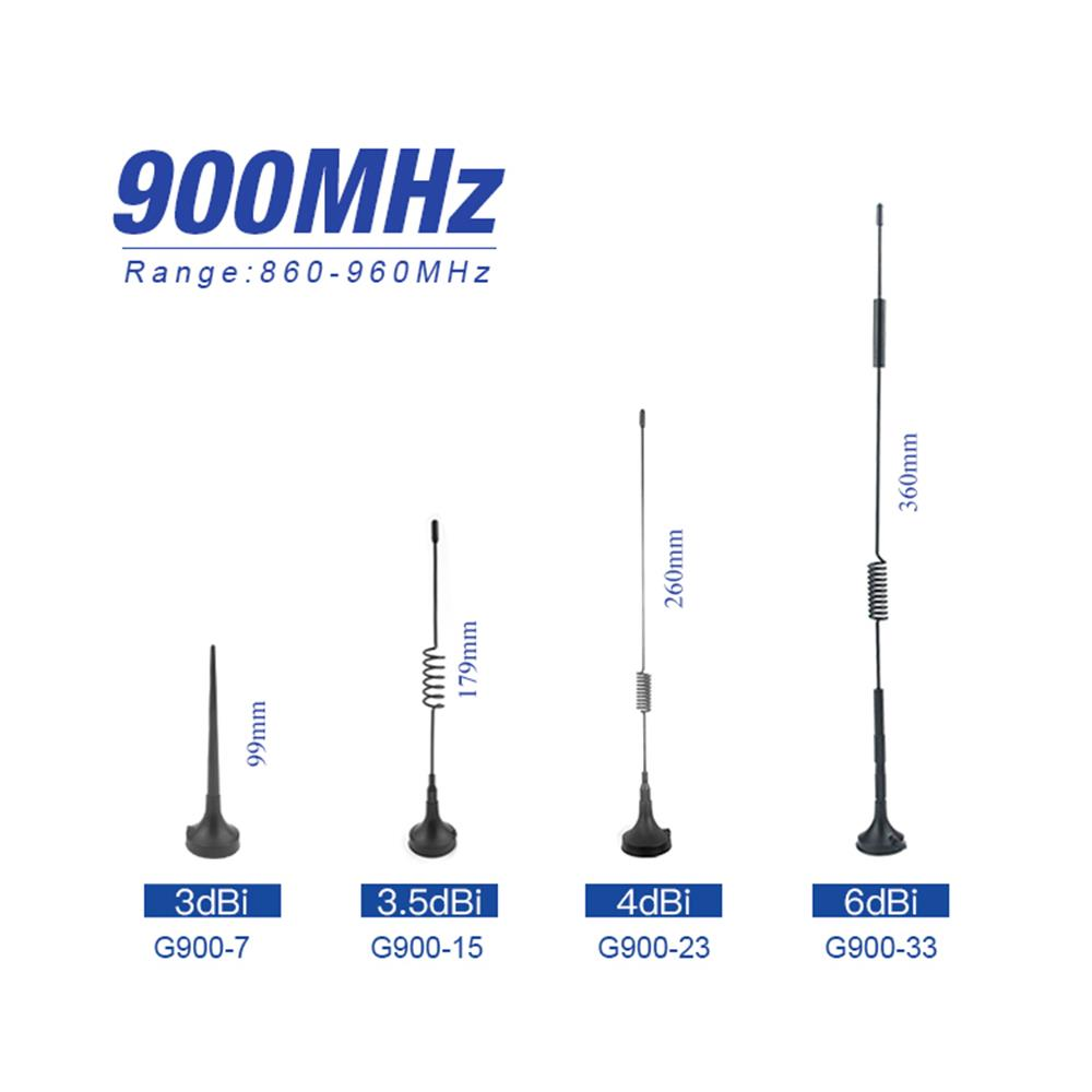 Long Range 915mhz Antenna 868mhz Lora Omni Antenna For Communication Magnet Mounted 868M 915M Wifi Aerial 900M Cable 2m
