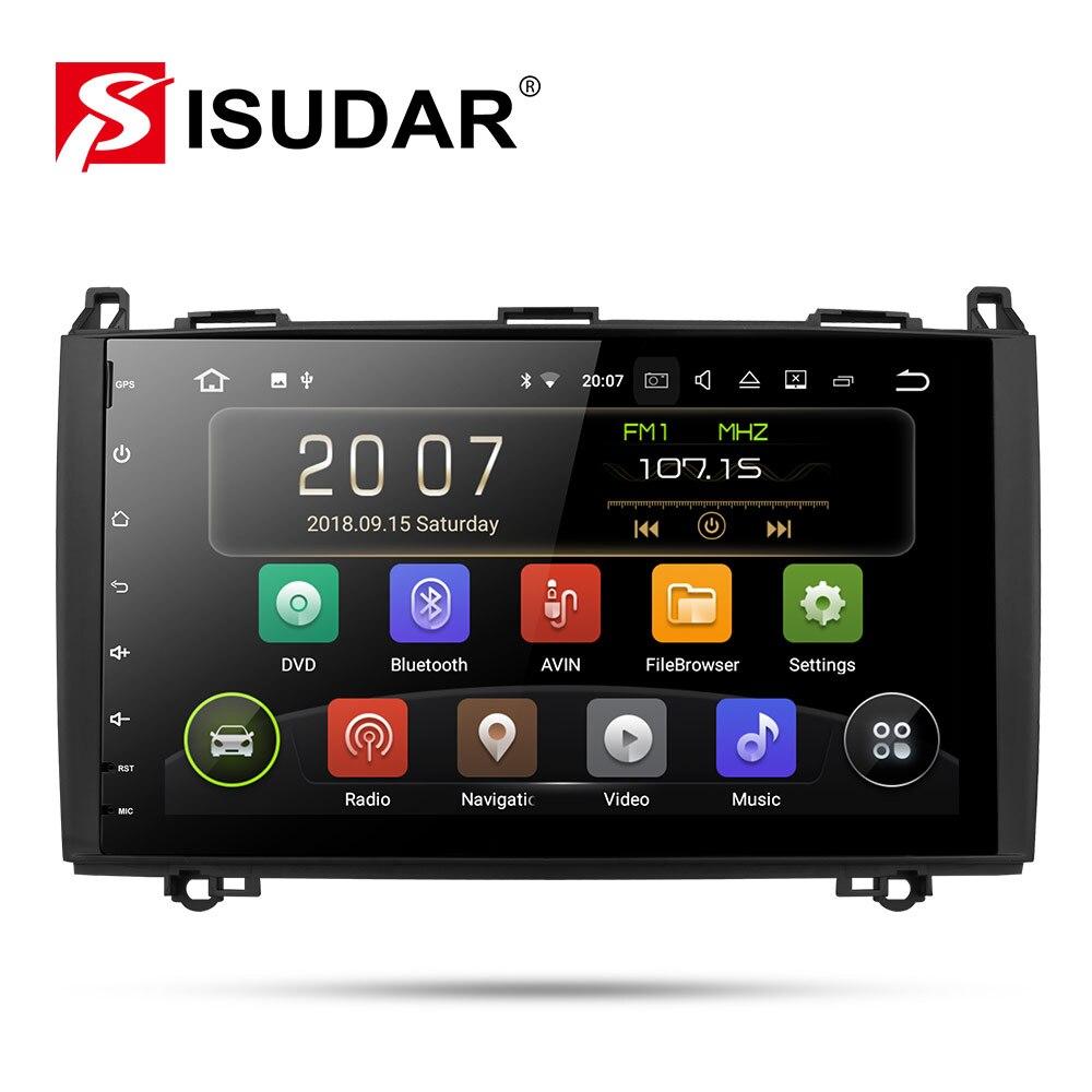 Isudar Car Multimedia Player GPS Android 9 2 Din DVD Automotivo Para Mercedes/Benz/Sprinter/Viano/ vito/B-classe/B200/B180 Rádio