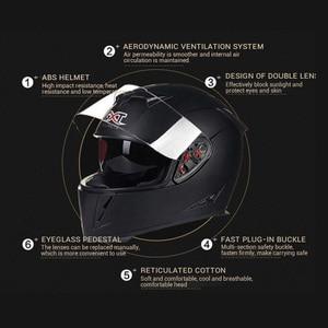 Image 3 - جديد حقيقي GXT كامل الوجه الخوذات شتاء دافئ مزدوج قناع دراجة نارية خوذة كاسكو دراجة نارية السعة