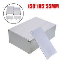 1Piece Silver Enclosure Case Aluminum Box Circuit Board Electronic Project Case DIY Durable Aluminum Instrument 150*105*55mm|Portable Lighting Accessories|Lights & Lighting -