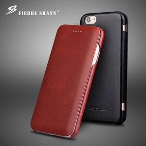 Image 1 - 100% حافظة جلدية اصلي لهواتف ابل ايفون 6 6S 7 8 Plus SE 2020 Fundas فاخرة مع هدية مجانية واقي للشاشة