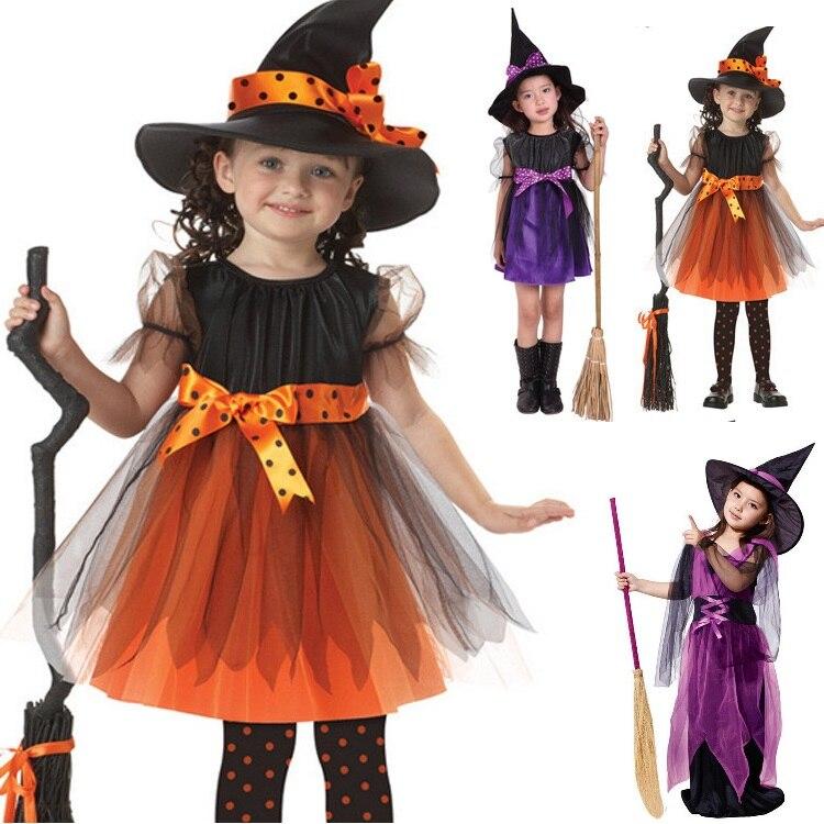 Halloween kostüm für kinder baby mädchen kinder vampire hexe kostüm mädchen cosplay Karneval Party prinzessin fancy dress up kleidung