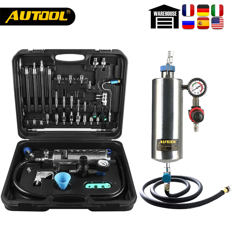 Original AUTOOL C100 Car Fuel Injectore Cleaner Non-dismantle Bottle Gasoline Fuels Injector Cleaning Testing System Wholesale