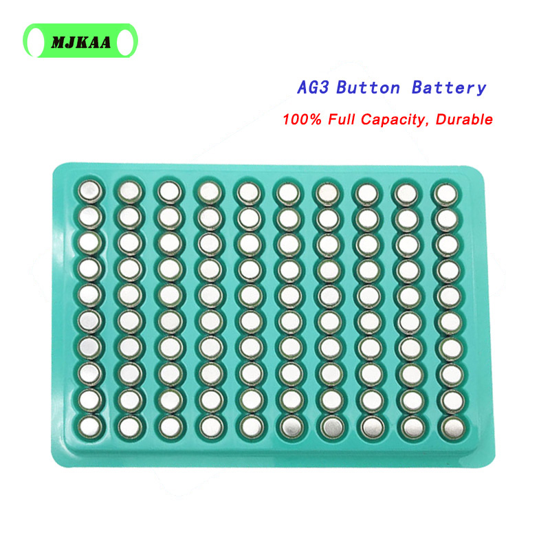 Cheap 100PCS/Lot LR41 AG3 SR41W 392 192 GP192A LR736 Button Watch Battery Cell Cion Batteries For Flashlights,toys,watches