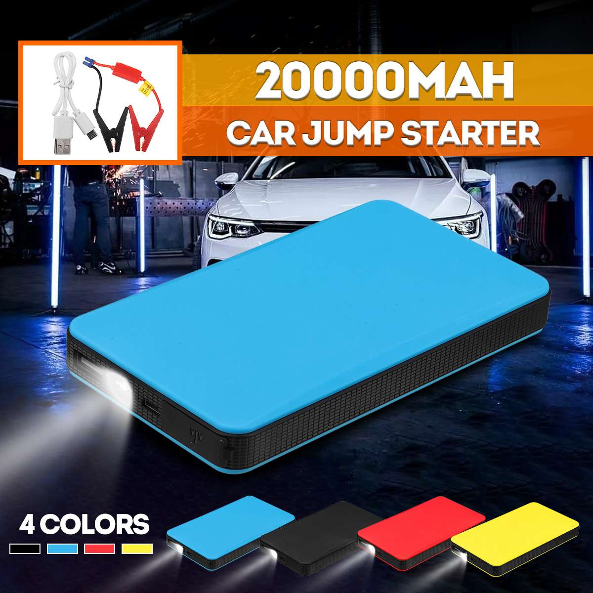 Portable Mini Slim 20000mAh Car Jump Starter Power Bank 12V Engine Battery Charger Booster Car Battery Starter Charger