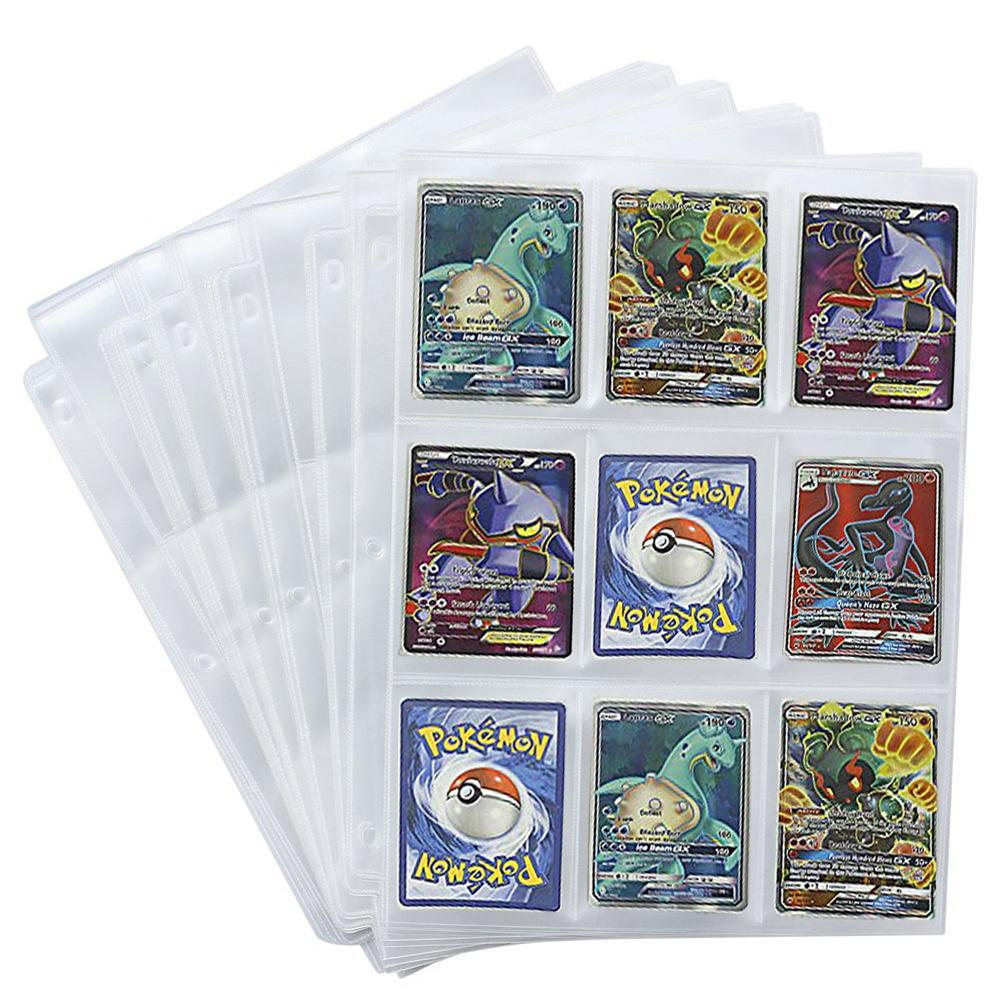 50 Pieces Game Card Sets Storage Wallet Album Page Collection Neutral Transparent Game Card Sleeves Card Album Card Cover