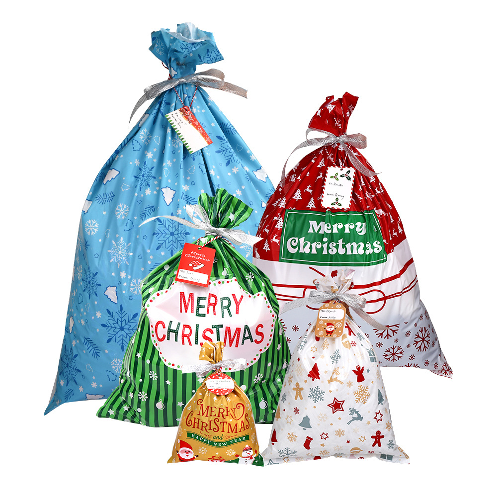 Child Christmas Gift Packaging Bags Party Home Birthday Surprise Pouch Printing Bag