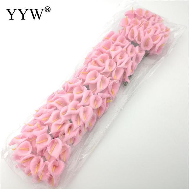 Calla Lily-Bouquet de fleurs artificielles 10cm | Fleurs artificielles pour décoration de mariage, bricolage couronne, accessoires décoratifs pour la maison, vente en gros