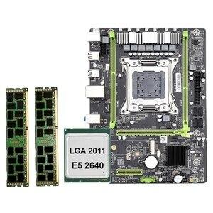 X79 M2 LGA2011 материнская плата комбинированный комплект с E5-2640 cpu 2X8GB 16GB DDR3 ram 2-Ch 1600Mhz ECC REG NVME M.2 SSD слот